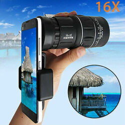 16x52 Zoom Optical HD Lens Monocular Telescope Outdoor Hiking For Smart Phone $16.61