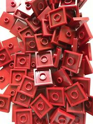 LEGO BRAND NEW #87580 DARK RED 2 x 2 TILE WITH ONE KNOB 25 PIECES $2.99