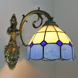 Mediterranean Downward Lighting Wall Sconce Tiffany Stained Glass Wall Light $54.99