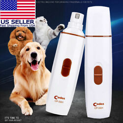 #1 Pet Dog Cat Nail Paws Grinder Trimmer Tool Grooming Care Clipper Electric Kit $14.79