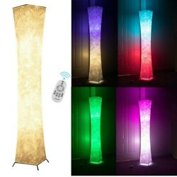 LED Floor Lamp with 2 Bulbs RGB Color Changing Remote Standing Light Living Room $77.99