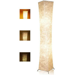 52quot; Dimmable Standing LED Floor Lamp Fabric Shade Warm Light Living Room Bedroom $38.99