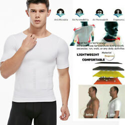 Comfree Men Body Toning T-shirt Ultra Durable Body Compression Shapewear Fit Top $8.79