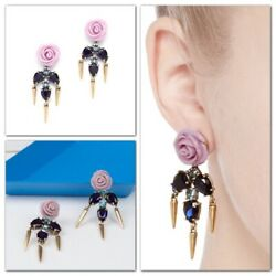 J.CREW Roses and Thorns Chandelier Earrings NWT
