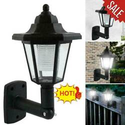 Solar Power LED Path Way Wall Landscape Mount Garden Fence Lamp Outdoor Lights