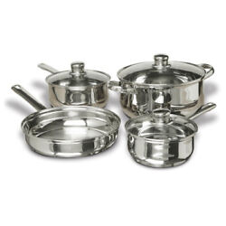 CONCORD 7 PCS Stainless Steel Cookware Set. Pots Pans $49.98