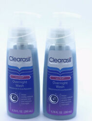 2 Clearasil Ultra Overnight Wash discontinued face cleaner reduces redness acne. $39.59
