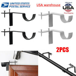 2pc Single Hang Curtain Rod Holder Bracket Into Window Frame Curtain Rod Bracket $9.99