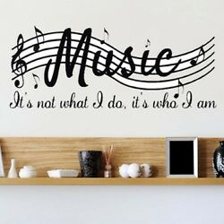Art Mural Home Decor Wall Room Music Musical Notes Removable Decal Stickers $4.99