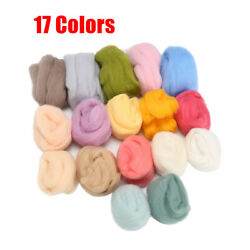 Retro Lot of 17 colors Wool Fibre Roving For Needle Felting Hand Spinning $6.31