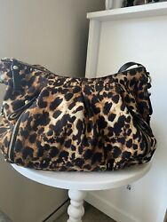 Authentic Vincent Camuto Convertable Purse Shoulder Bag To Backpack Leopard $60.00