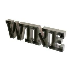 Eclectic Metal Wine Wall Mounted Cork Holder Decorative Storage Bar Display $79.20