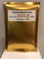 Baseball MYSTERY GOLD PACK -  10 cards - 2 Hits: 1 Auto or Relic + 1 # card  $24.99