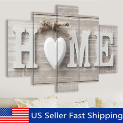 5 Panels Love HOME Wall Art Print Pictures Canvas Painting Unframed  US g US!
