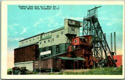 West Frankfort Illinois Postcard quot;Southern GEM COAL CO. Mine No. 1quot; Mining $4.20