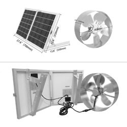 Solar Attic Fan 1500CFM + 30W Foldable Solar Panel Flow up to 2,200sq $187.06