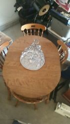 1 Wooden Table with Wooden 4 chairs $60.00