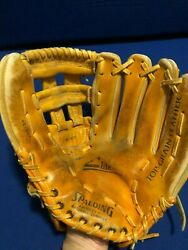 Spalding Pro Model Adult Men#x27;s Leather Baseball Glove #42 697 Preowned RH $24.99