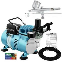 Master Airbrush Air Compressor Kit with G233 Gravity Feed Airbrush 3 Tip Pro Set $119.96