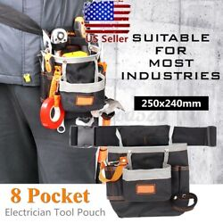 Multifunctional Tool Bag Electrician Waist Pack 8 Pocket Belt Pouch Holder  USA $10.67