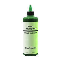 Chefmaster 9 Ounce Neon Brite Green Airbrush Cake Decorating Food Color $10.96