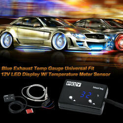 Digital Car Exhaust Gas Temp Gauge LED Pointer EGT With Temperature Meter Sensor $35.34