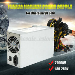 US 2000W 180-260V Silver Miner Mining Machine Power Supply For Ethereum 90  $66.01