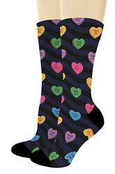 Couples Gifts Candy Heart Socks Valentines Day Gifts for Men Novelty Crew Socks $20.99