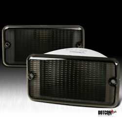 Fits Jeep 1997-2006 Wrangler TJ Smoke Tinted Front Signal Parking Lights Pair $26.99