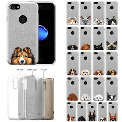 For Apple iPhone 8 iPhone 7 4.7quot; Dog Bling Glitter TPU Silicone Case Cover $9.99