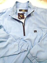 Loudmouth Golf Half zip Performance Polyester Pullover Jacket NWT Powder Blue $55.00