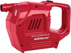 Coleman Rechargeable Quickpump for Air Mattress Adapters 120V Charger Red $65.00