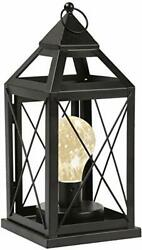 Circleware Lantern Metal Cage Style Desk Table or Hanging Lamp - Cordless Acce $19.66