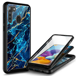 For Samsung Galaxy A21 Case Ultra Slim Built-In Screen Protector Phone Cover $9.99