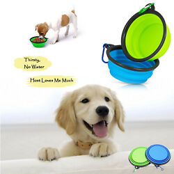 Non Spill Silicone Pet Travel Bowls for Cats Puppies Dogs Water Food Feeding $10.99