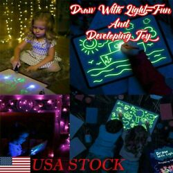New Draw With Light Fun And Developing Toy Drawing Board Magic Draw Educational $11.49