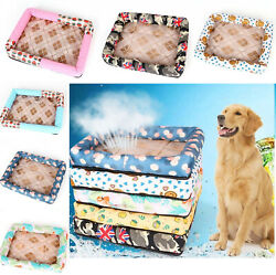 Cute Pet Dogs Puppy Cats Mat Breathable Summer Supplies Silk Ice Cooling Beds $10.99
