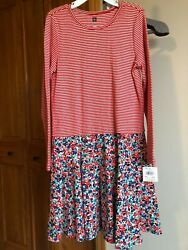NWT 8 Tea Collection Red Floral Skirted girls Dress $15.00