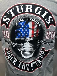 Bike Week Sturgis 2020 80th Annual Biker Motorcycle T Shirt Social Distancing $22.99