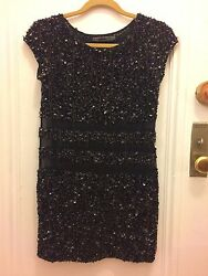 ALL SAINTS Beaded Sequin Stud Sleeveless Flapper Cocktail Dress 0 STUNNING! $299.00