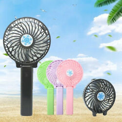 Foldable Rechargeable Fan Mini Operated Hand Held Fans Pocket Size Air Cooler  $7.49