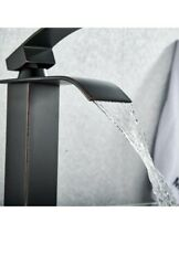 BWE Single HoleLever Waterfall Bathroom Sink Faucet Oil Rubbed Bronze Mixer Tap $34.99