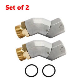 1#x27;#x27; Fuel Swivel Prevent TwistingBinding and Kinking of Fuel Hoses Set of 2 $27.99