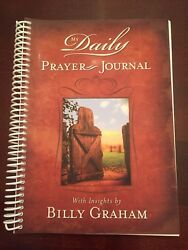 Billy Graham My Daily Prayer Journal  1 Year Spiral Bound Pub 2008 Grason Unused $7.99
