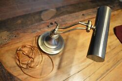 VINTAGE ANTIQUE BRASS LAMP ADJUSTABLE OFFICE DESK TABLE LAMPPREOWNED $30.00