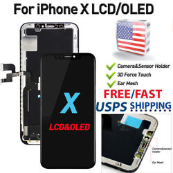 OLED For iPhone X LCD Replacement 3D Touch Screen Digitizer Assembly A1901 US $16.99