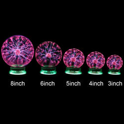 Plasma Ball Lamp Magic Sphere Nebula Globe Desktop Light Party Decor 3 4 6 8 in $27.88