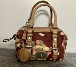 Fossil Small Maddox Satchel Handbag- Red Multi (Brand New with Tags!) $49.99