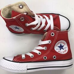 Authentic Converse All Star YOUTH RED HIGH Reg Price $45 New In Box $27.25