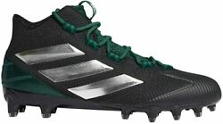 adidas Men's Freak Carbon Mid Football Cleats White/Green or Black/Green $64.99